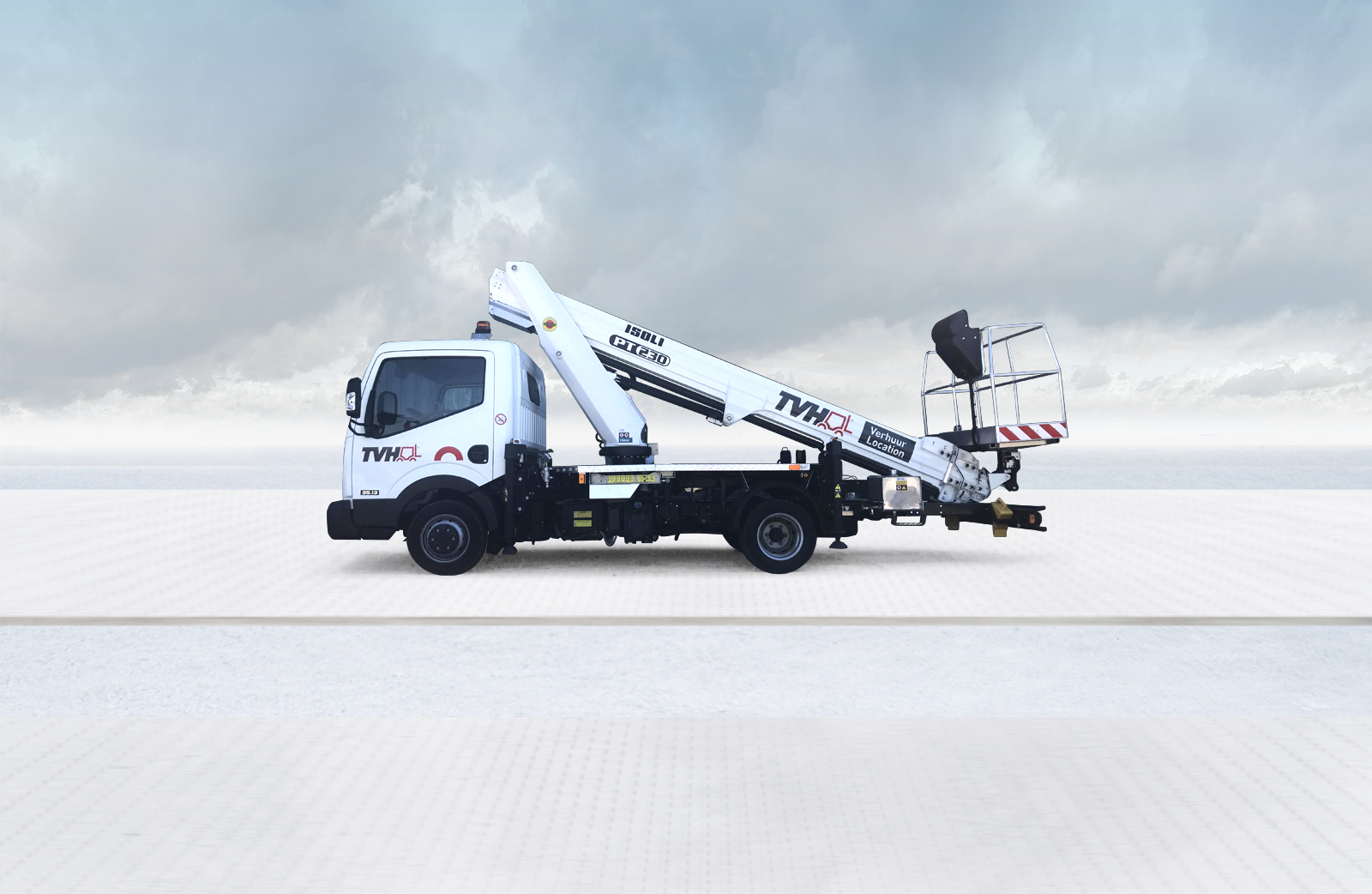 Truck-mounted aerial work platforms