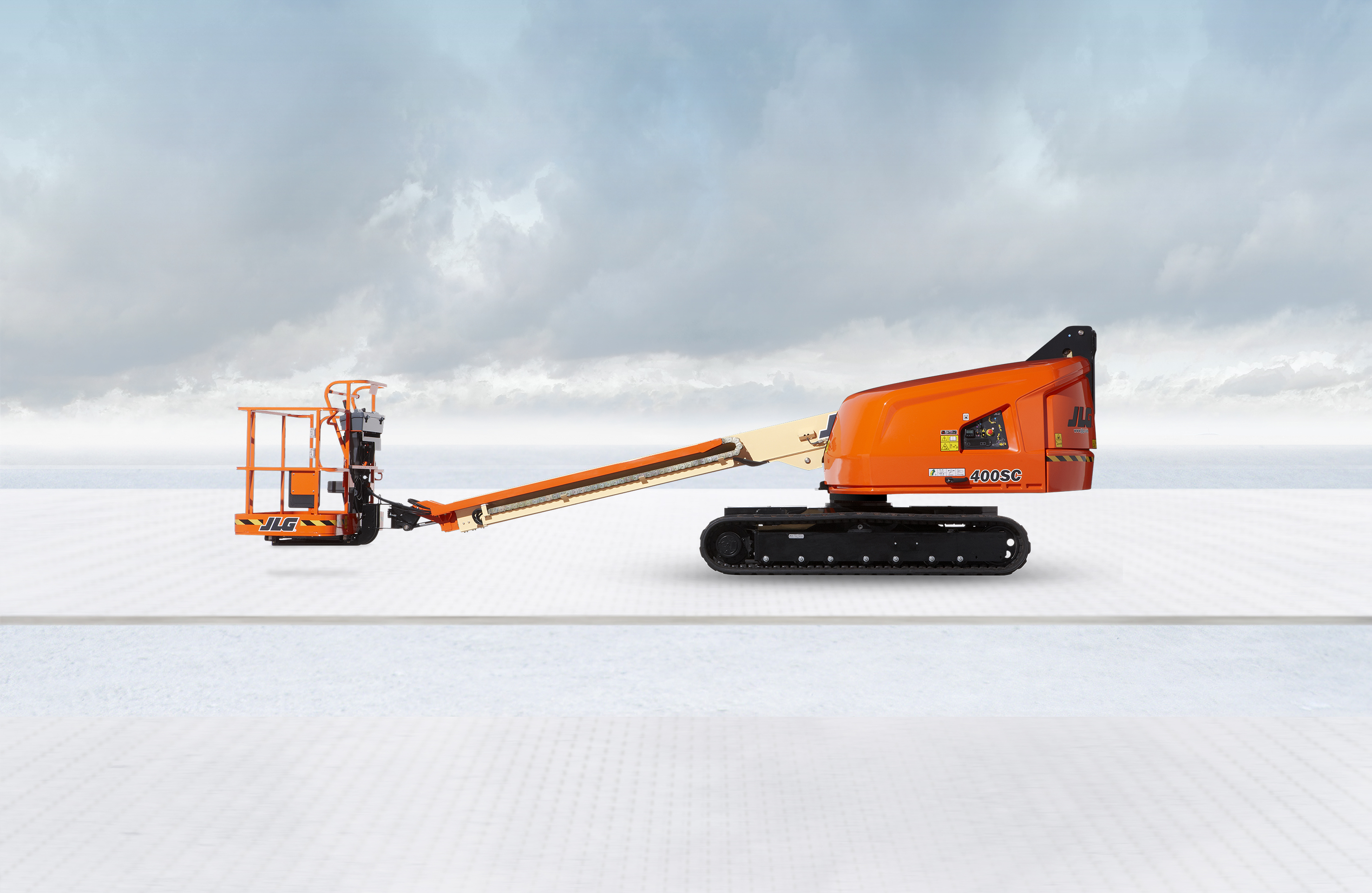 Tracked telescopic boom lifts